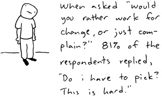 Work for change cartoon