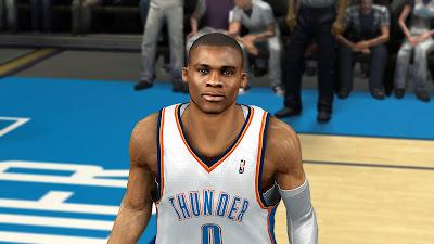 NBA 2K13 Russell Westbrook Cyberface Mod