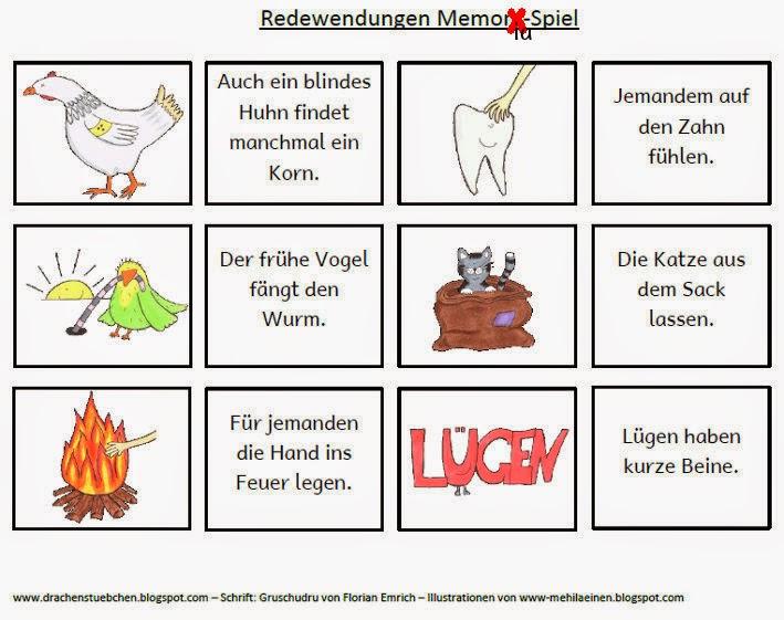 Drachenstübchen: Redewendungen Memoria-Spiel