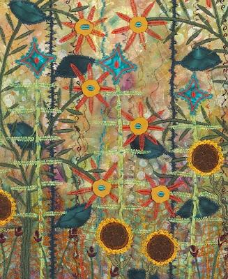 Karen Linduska Fiber Artist: Mexican Sunflowers