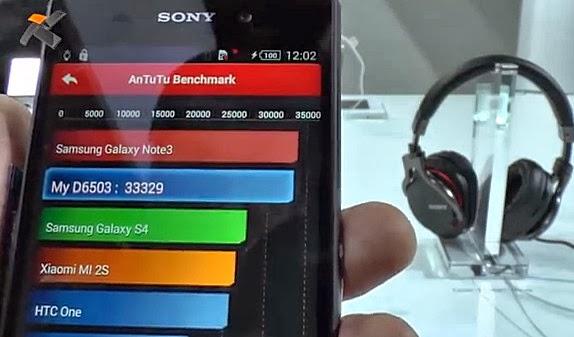 Sony Xperia Z2 Antutu Benchmark Score