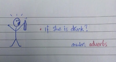 -if she is drunk? answer: adverbs