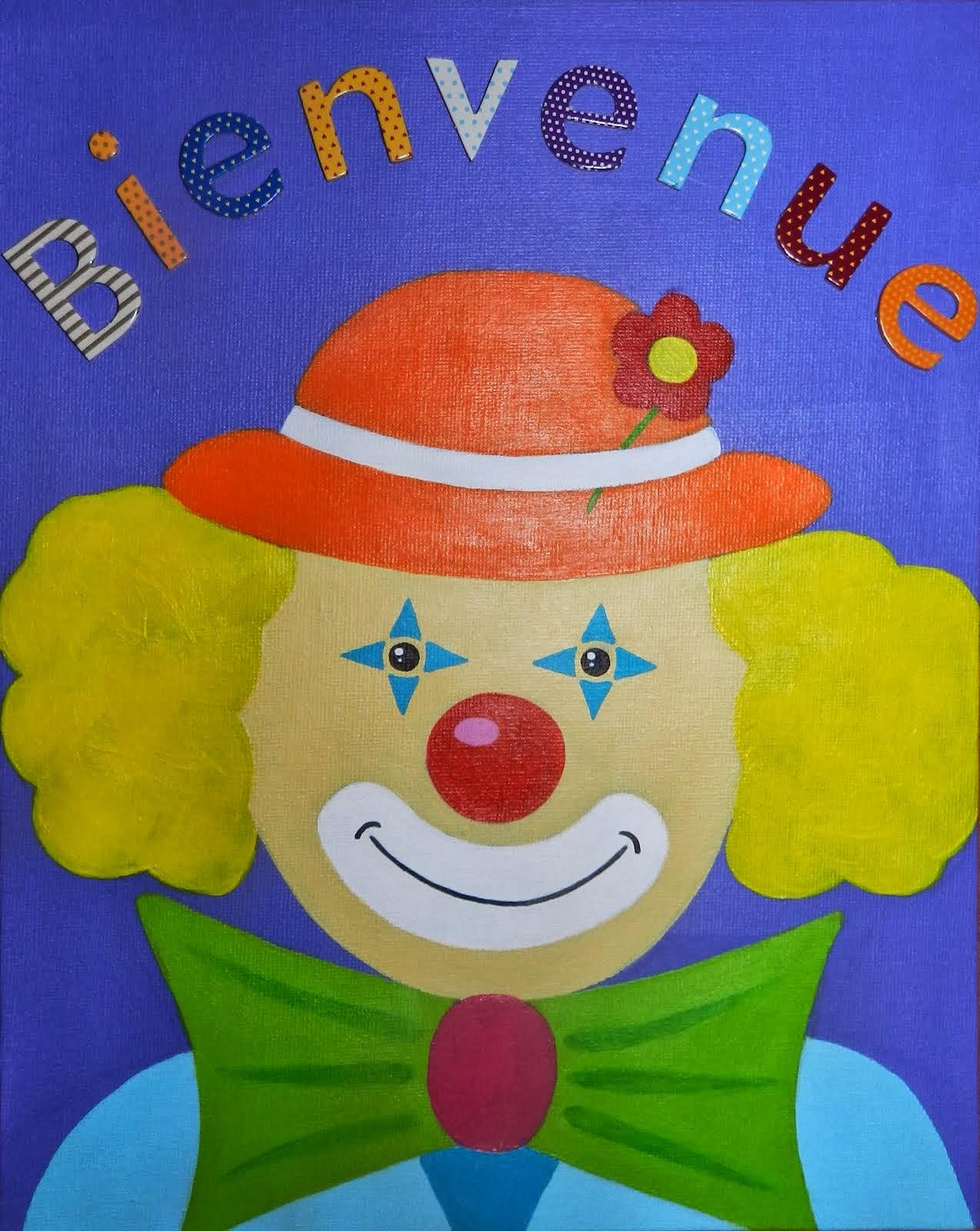 plaque de porte clown