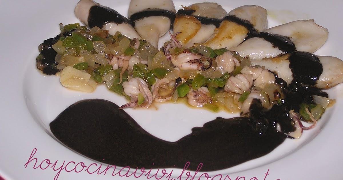 Hoy cocina vivi calamares en su tinta receta de karlos for Cocinar calamares pequenos