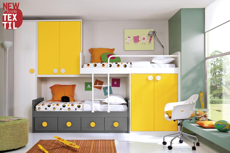 Dormitorios juveniles economicos - Habitaciones infantiles merkamueble ...