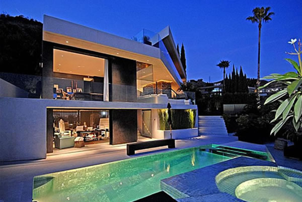 Modern house design architecture exterior pool for Beautiful architecture houses