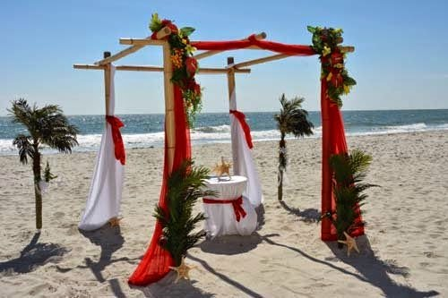 2014 Beach wedding decoration settings from Beach Occasions