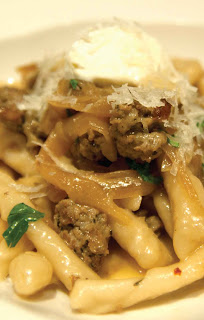 Spicy Italian Sausage and Caramelized Onion Fusilli