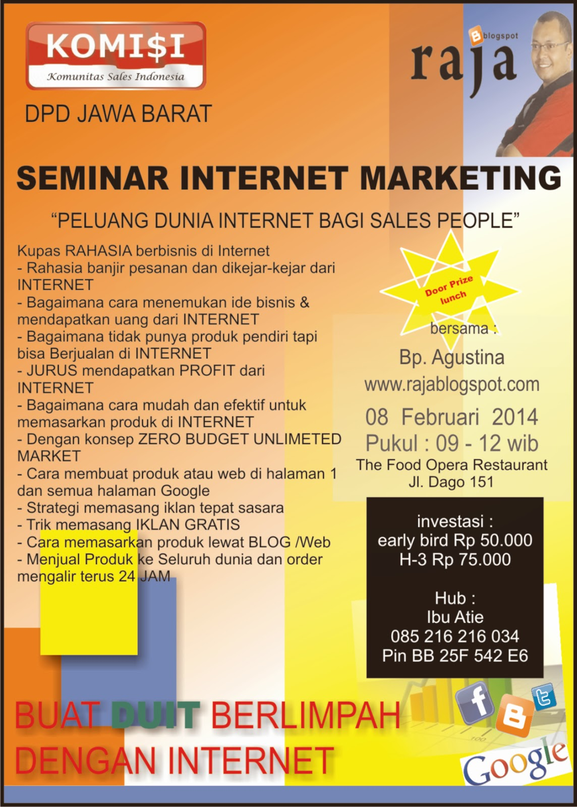 seminar in web marketing What is a seminar a seminar may be defined as a gathering of people for the purpose of discussing a stated topic such gatherings are usually interactive sessions where the participants engage in discussions about the delineated topic.
