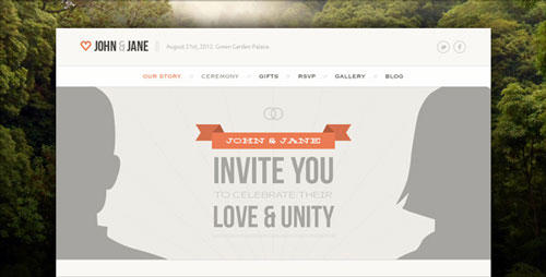 ThemeForest - Wedding - Responsive Single Page WordPress Theme