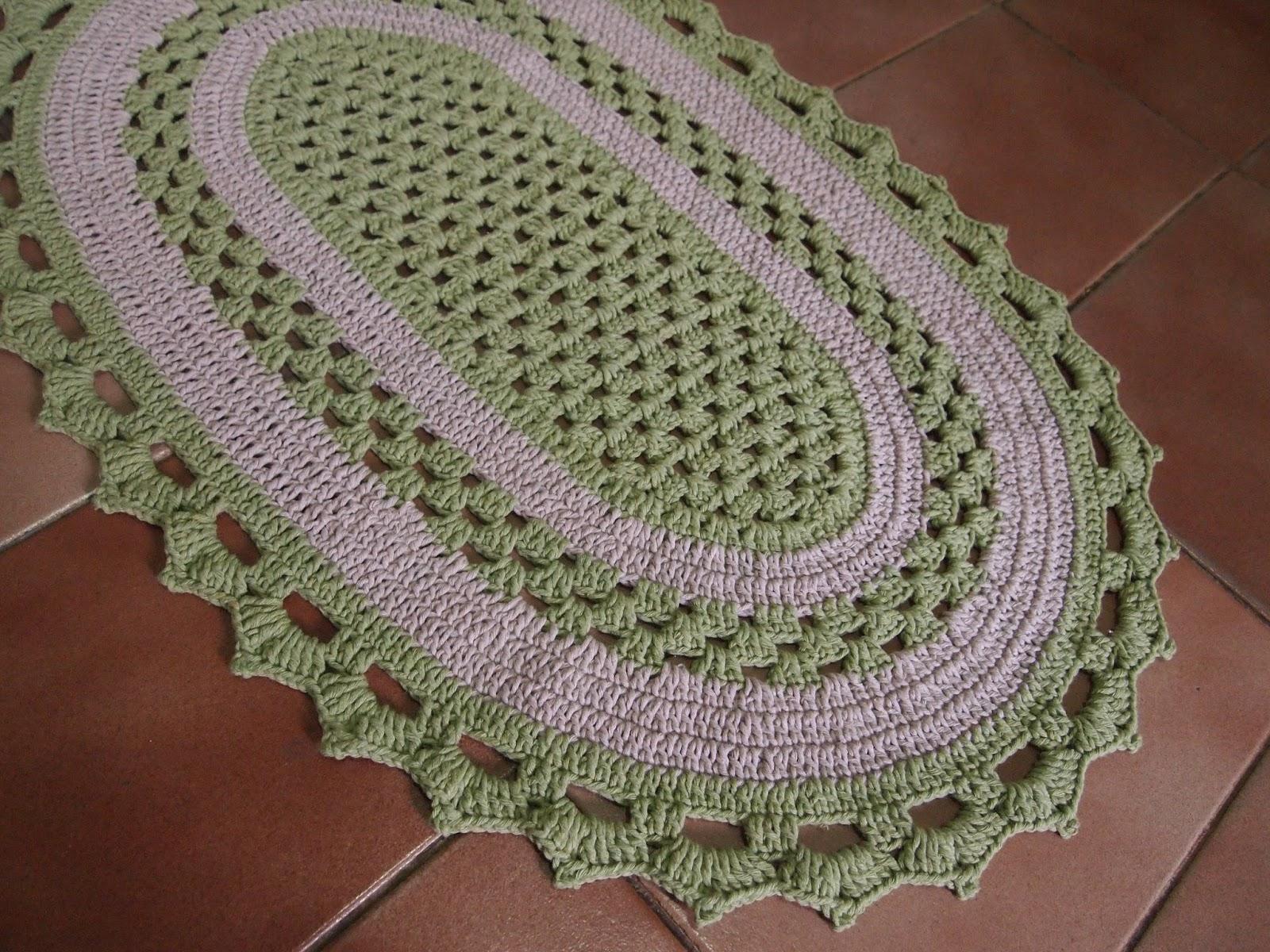 Tapetes De Croche Para Cozinha Oval Oppenau Info -> Tapete De Croche Oval Simples Passo A Passo