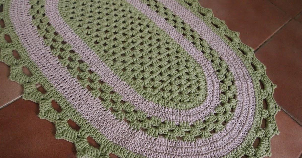 os croches da elsa tapete oval   bloquinhos