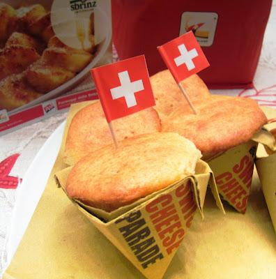 muffin gustosi allo sbrinz per swiss cheese parade.