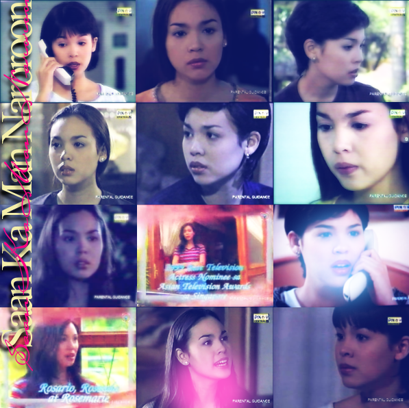 Claudine Barretto as Rosario de Villa / Rose Marie / Rosenda Rico Yan as Daniel Diether Ocampo as Bart Leandro Munoz as Joshua Gladys Reyes as Melissa G. Toengi as Althea Mylene Dizon as Karen Carlos Agassi as Richard