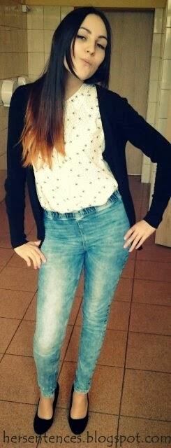 jeansy na gumce