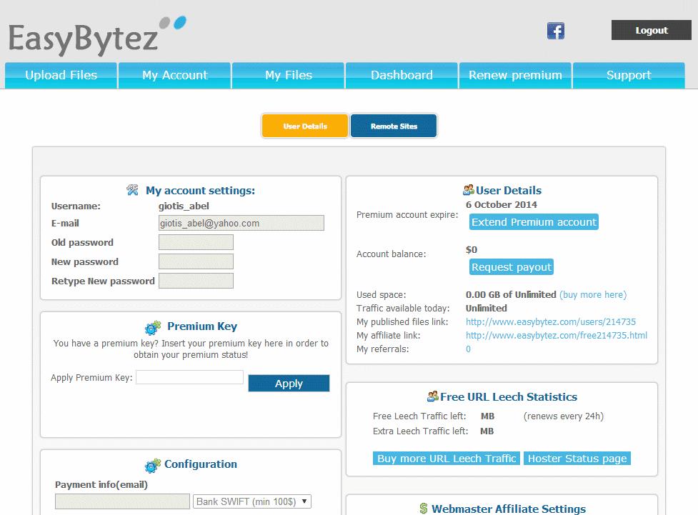 free Easybytez Premium Accounts