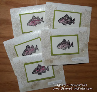 Cards made with Stampin'UP! stamp set: By the Tide
