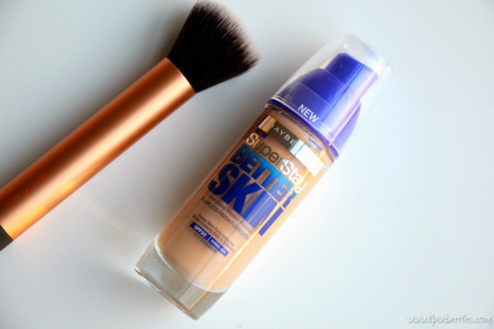 maybelline superstay better skin foundation golden
