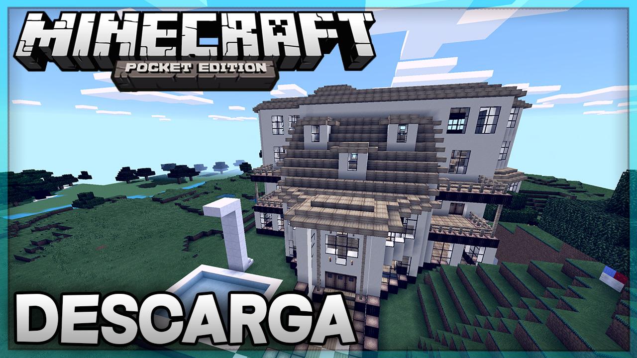 Descarga mansion para minecraft pe super mansion for Casa moderna en minecraft pe 0 16 0