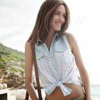 Bluza din doua materiale fara maneci pentru femei