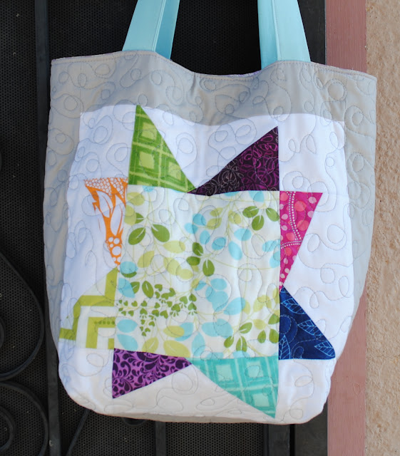 wonky star tote