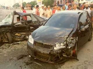 Ustaz Azhar Idrus Kemalangan di Kuala Terengganu