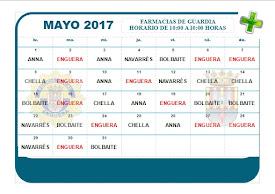 FARMACIA DE GUARDIA MAYO 2017