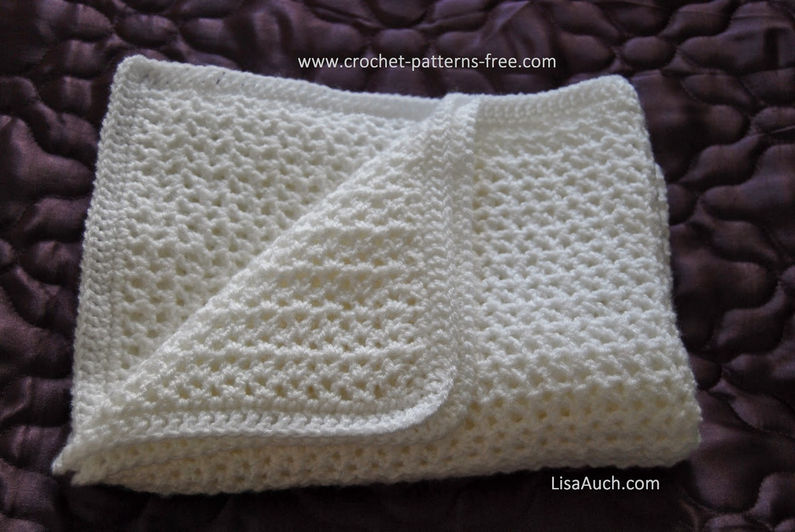 Top Free Crochet Baby Blanket Pattern HOW TO Easy Crochet V Stitch  CG16