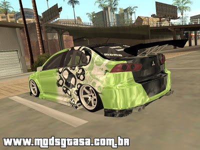 Mitsubishi Evolution X - Tuning para GTA San Andreas