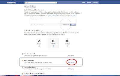 """كيفية منع الاصدقاء من عمل تاج """"Tag"""" لك على الفيس بوك !"""