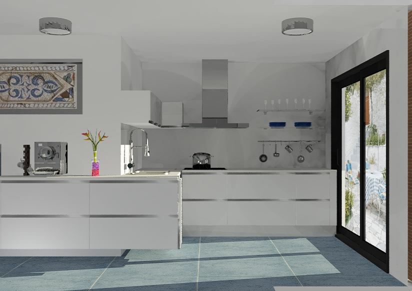 Proyecto cocina minimalista con sabor andaluz dolodesign - Baldas para cocina ...
