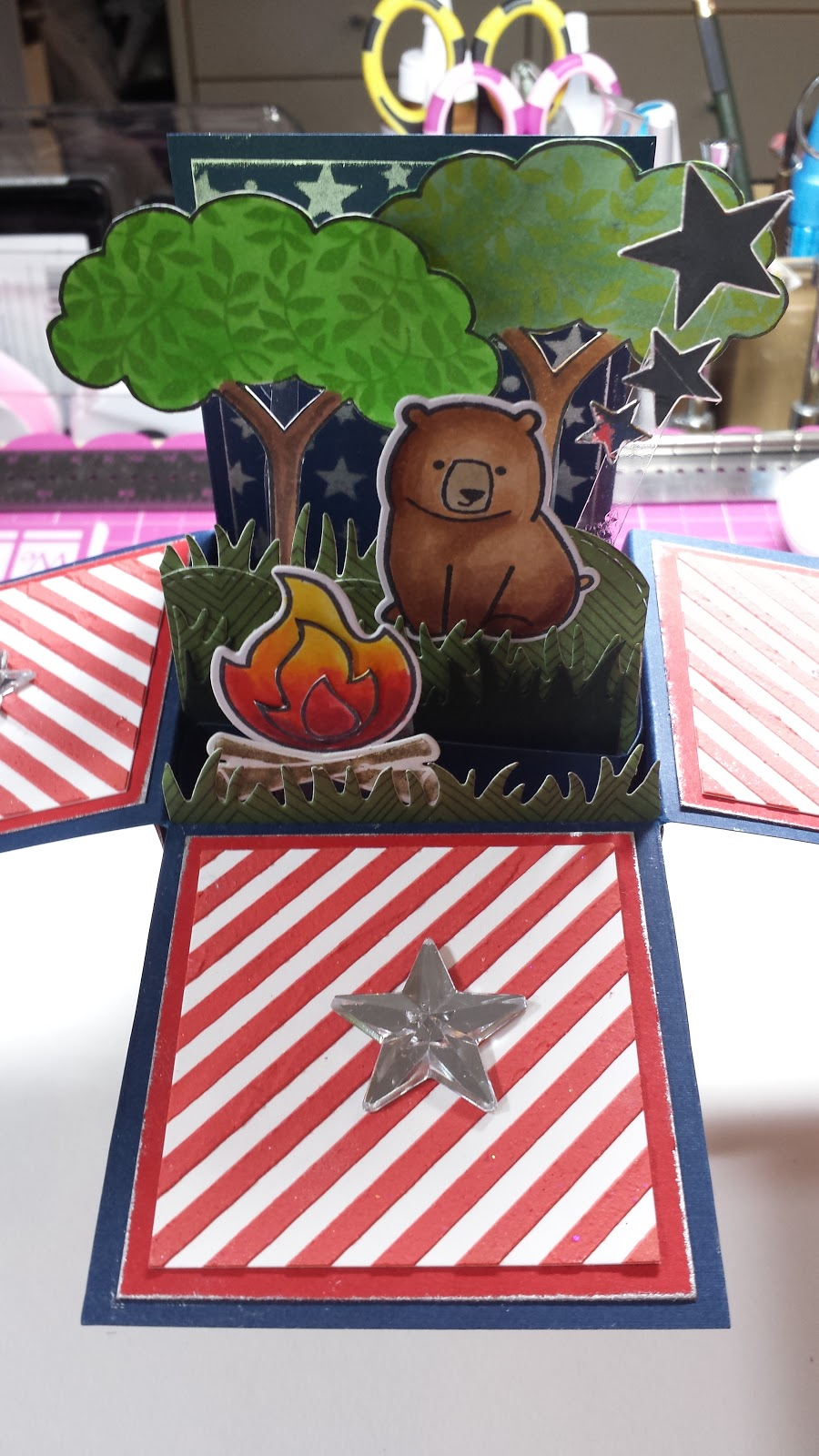Lawnscaping Challenge, Lawn Fawn, 4th of July