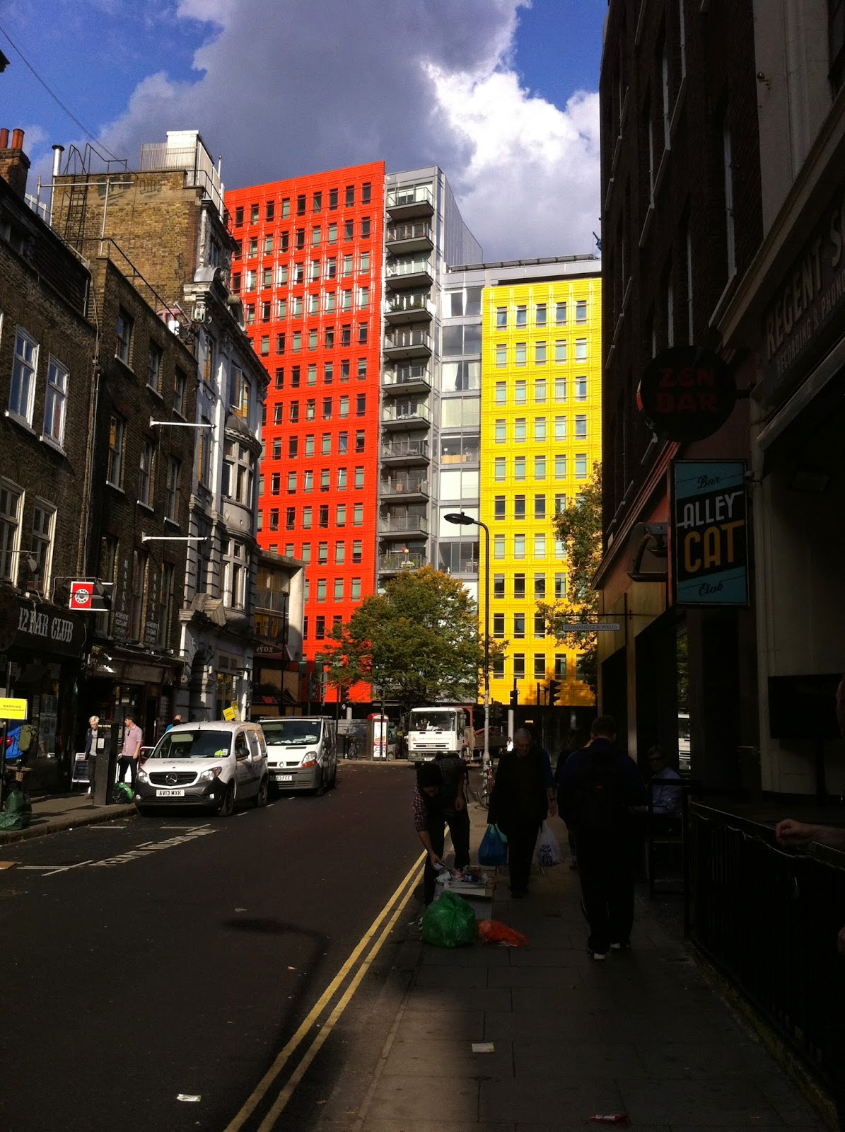 London Soho Colourful Buildings