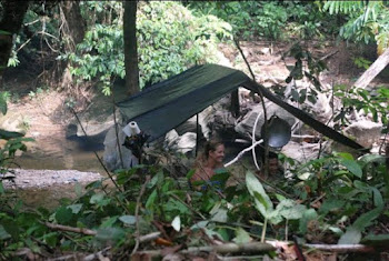 Art ( Jungle Stle) Tent Where The Treker over night.