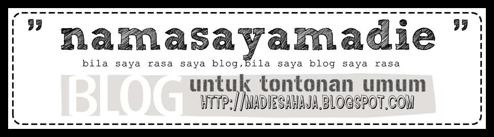 saya cerita dalam blog