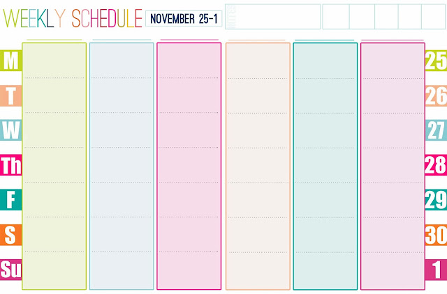 Printable Weekly Calendar With Hours Such as weekly calendars