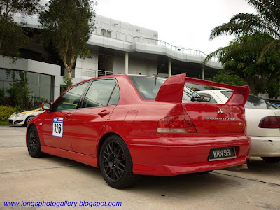 Mitsubishi Lancer Evolution VII in Sepang