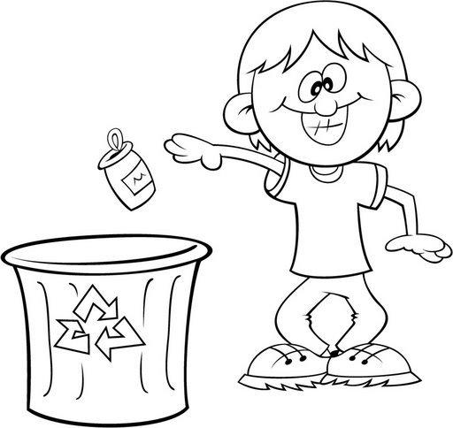 Dibujos para colorear de no tirar basura - Imagui