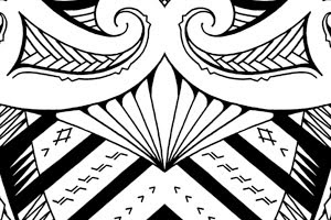 samoan shoulder tattoo maori mixed design