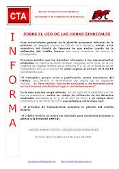 SOBRE EL USO DE LAS HORAS SINDICALES