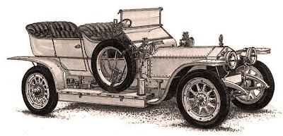 coche antiguo ilustración vintage para scrapbooking