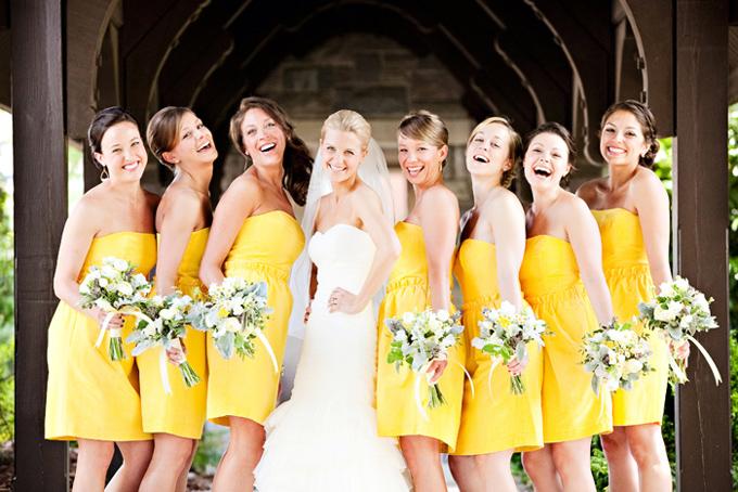 Vestidos dama de honor amarillo