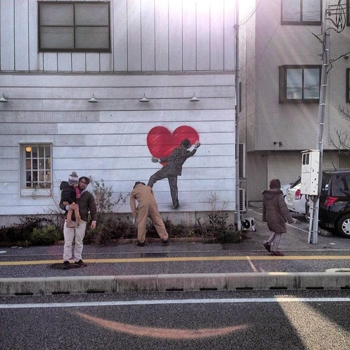 "Our friend Nick Walker is currently in Japan where he just wrapped up this new ""Love Vandal"" somewhere on the streets of Hikone.  1"