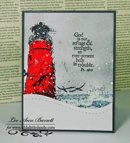ODBD Keep My Lamp Burning, ODBD The Mighty Sea, Card Designer Lee Ann Barrett