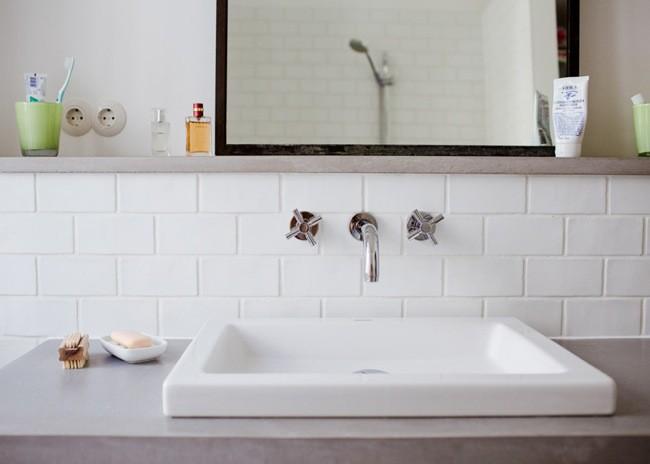 Azulejo Para Baño Blanco:de la escalera de mano que hemos visto en las primeras fotos de