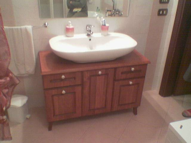 Fai da te hobby legno mobile da bagno for Lavandino leroy merlin
