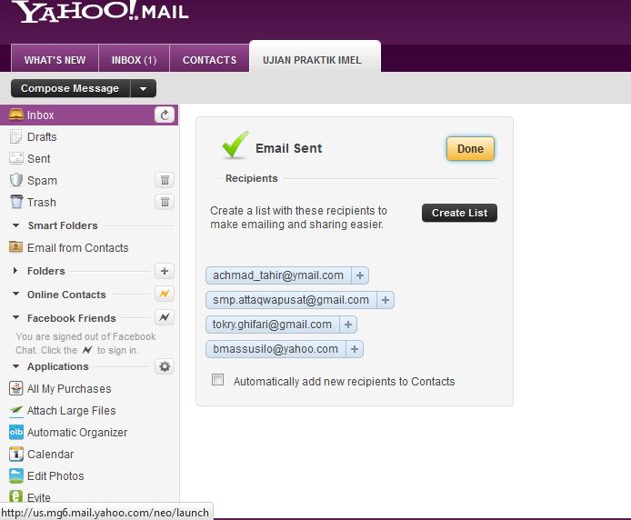 Selesai. dan Keluar dari Email anda dengan mengklik sign out atau ...