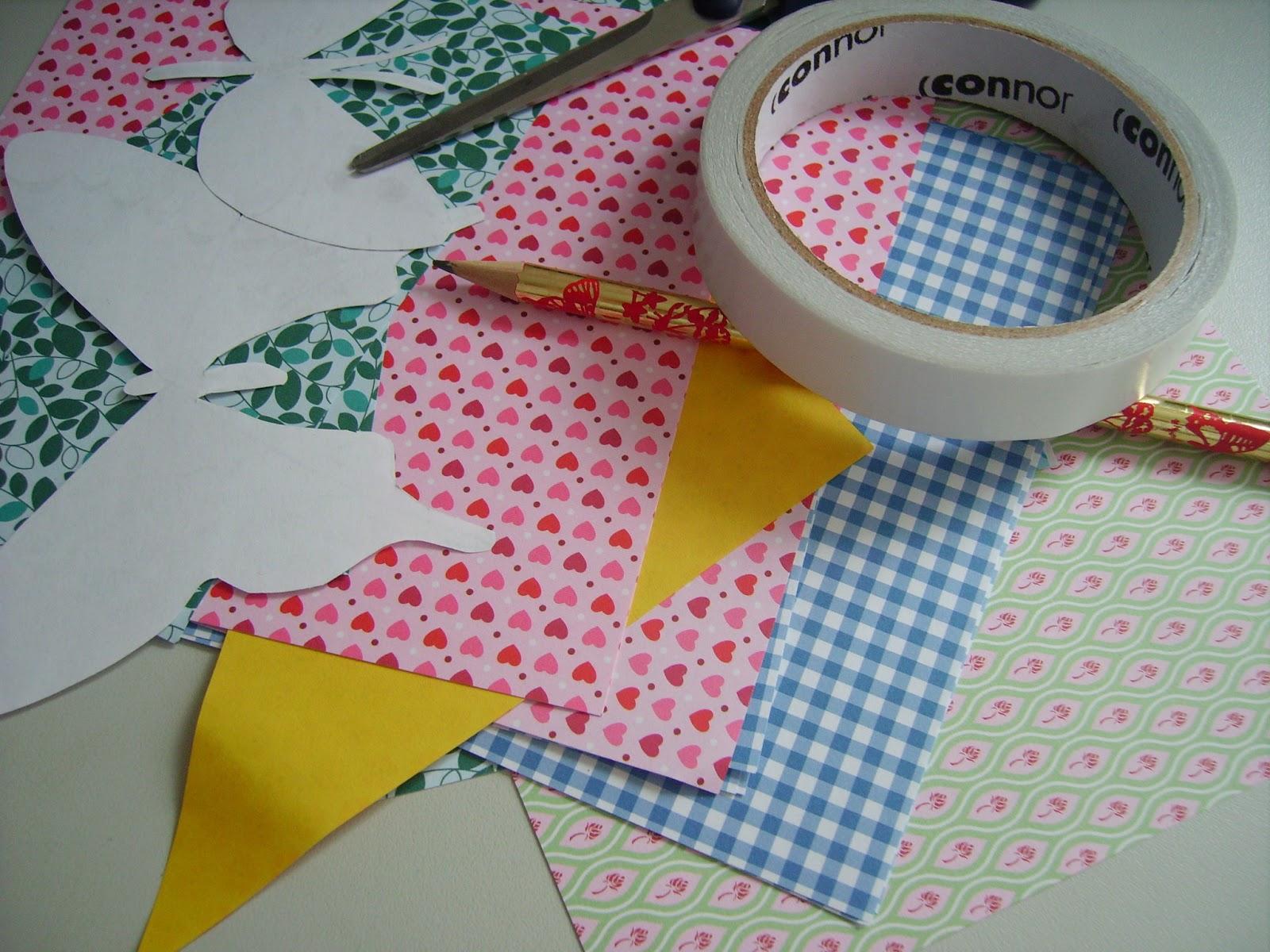 DIY Wanddeko Basteln Papier