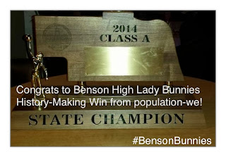 Congrats to the Lady Bunnies Basketball Team!