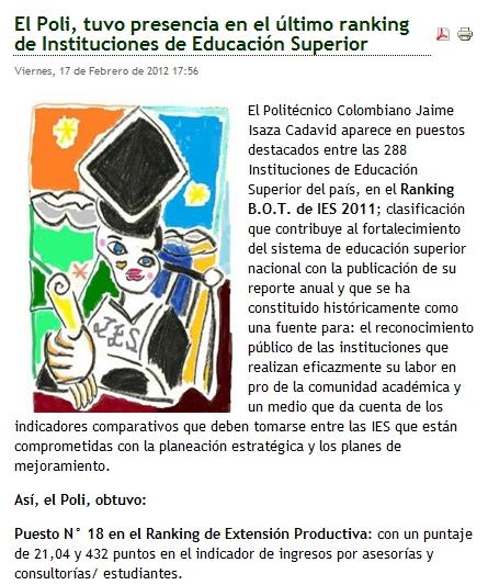 Publicado por POLITECNICO COLOMBIANO JAIME ISAZA CADAVID en 17:14 No ...
